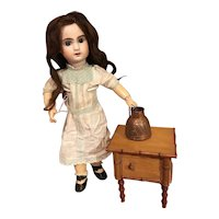 Cute antique faux bamboo doll night table (last chance)