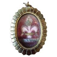 Antique 19th century French Ex voto pendant