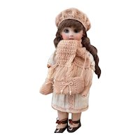 Very endearing 5-Piece French antique woolen set for doll size 2