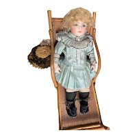 Lovely French Doll's Bamboo Wicker Rattan Chaise Lounge