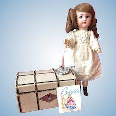 Cute small antique German Simon & Halbig walking doll 8 inch