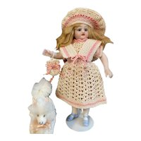 Lovely 4-Piece French Dress for All Bisque Doll!