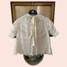 Endearing antique tulle cotton and silk child's coat