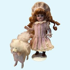 Very lovely 3-Piece French Dress for All Bisque Doll in size 1!