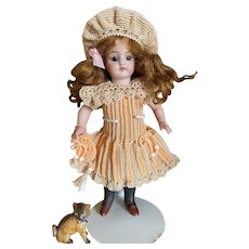Endearing 3-Piece French Dress for All Bisque Doll in size 3