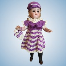 3-Piece French Crochet Dress for All Bisque Doll, La poupée Modèle size!