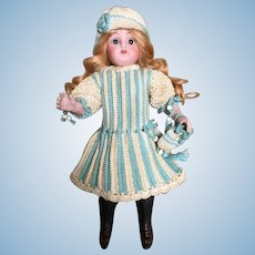 3-Pieces French Crochet Dress for All Bisque Doll