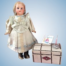 Adorable antique French cabinet size Steiner doll Fig A 2 10""