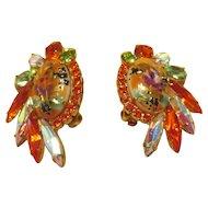 DiMartino Originals Orange Limoge Cabachon Earrings