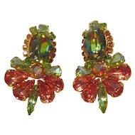 DiMartino Originals Watermelon Rhinestone Earrings