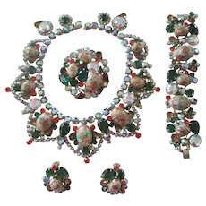 Juliana D&E Easter Egg Rhinestone Grand Parure