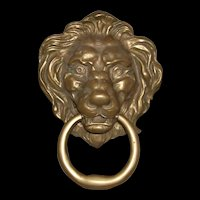 Solid Brass Large Lion Victorian Style Door Knocker