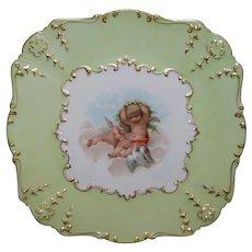 Dainty and Feminine, Antique Limoges Cherubs Cake Plate
