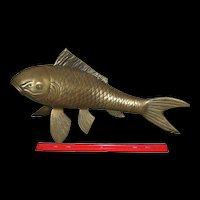 Large, Vintage Large Solid Brass Koi/ Goldfish (1)