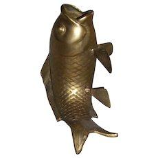 Large, Vintage Large Solid Brass Koi/ Goldfish (2)