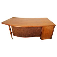 Vintage MID CENTURY DANISH Modern Miller Desk Boomerang style Top Beverly Hills Nationwide shipping available