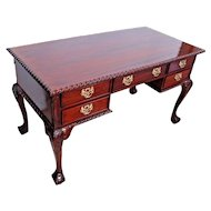 Lion claw top Antique Chippendale Executive Desk Hand Carved solid Mahogany Nationwide shipping available