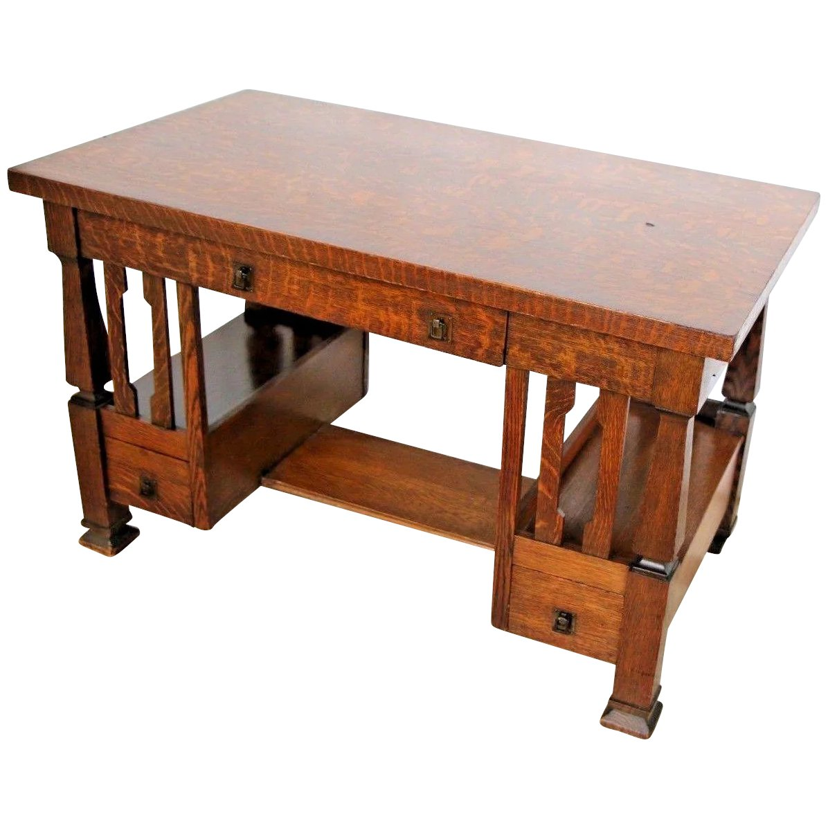 Crafts Mission Style Desk Writing Table