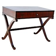Baker Furniture Barbara Barry Collection Mahogany writing desk table and drawer