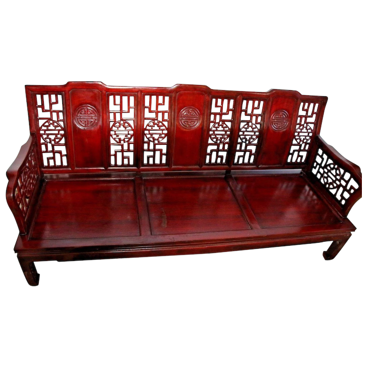 Carved Chinese Ming Style Sofa Couch
