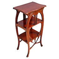 Victorian Three Tier Parlor Side Table Stand with shelves Solid Mahogany