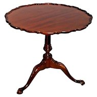 Vintage Tilt Top Table BAKER Historic Charleston Reproduction Solid Mahogany