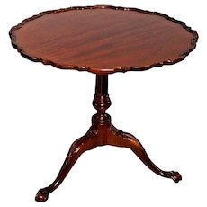 Vintage Tilt Top Table BAKER Historic Charleston Reproduction Solid Mahogany