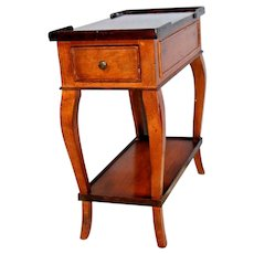 Vintage Baker Milling Road Made In Italy Side Console Table Long Drawer Petite