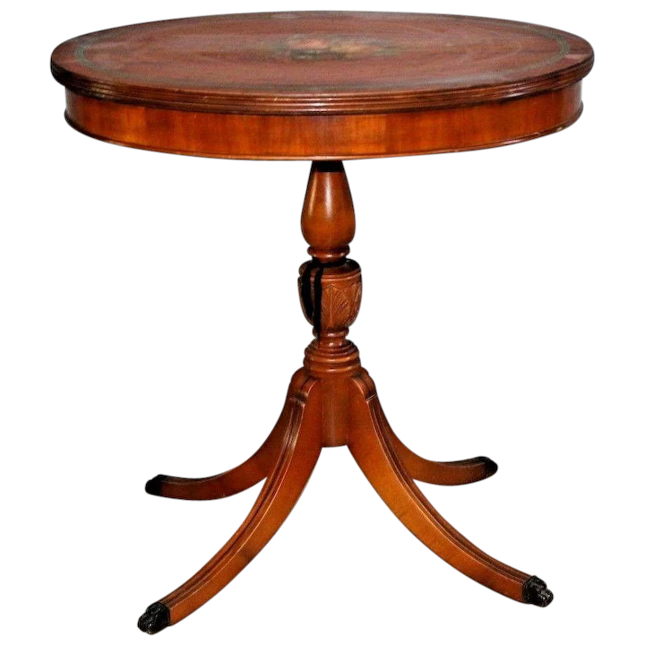 Vintage Oval Table solid hardwood carved legs Parlor rose theme petite Nationwide shipping available Please call for best rates