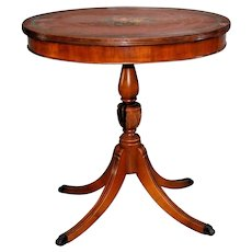 Vintage Oval Table solid hardwood carved legs Parlor rose theme petite