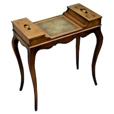 Rare Weiman Table Sewing and Craft Organizer French Style Two top doors