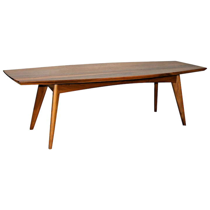 Mcm Mid Century Modern Surfboard Style Coffee Table By Room Board Made In Usa
