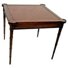 Vintage Game Table ET CETERA by Drexel Flip top chess board corner drink rings