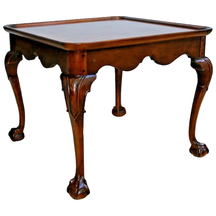Vintage Henredon Banded Ball Claw M Court Side Table Tail At Melrose And Antique Furniture Ruby Lane