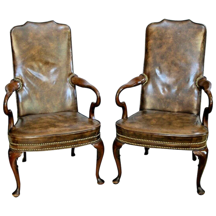 Remarkable Vintage Hickory Chair Regency Style Mahogany Library Parlor Arm Chairs Matching Forskolin Free Trial Chair Design Images Forskolin Free Trialorg