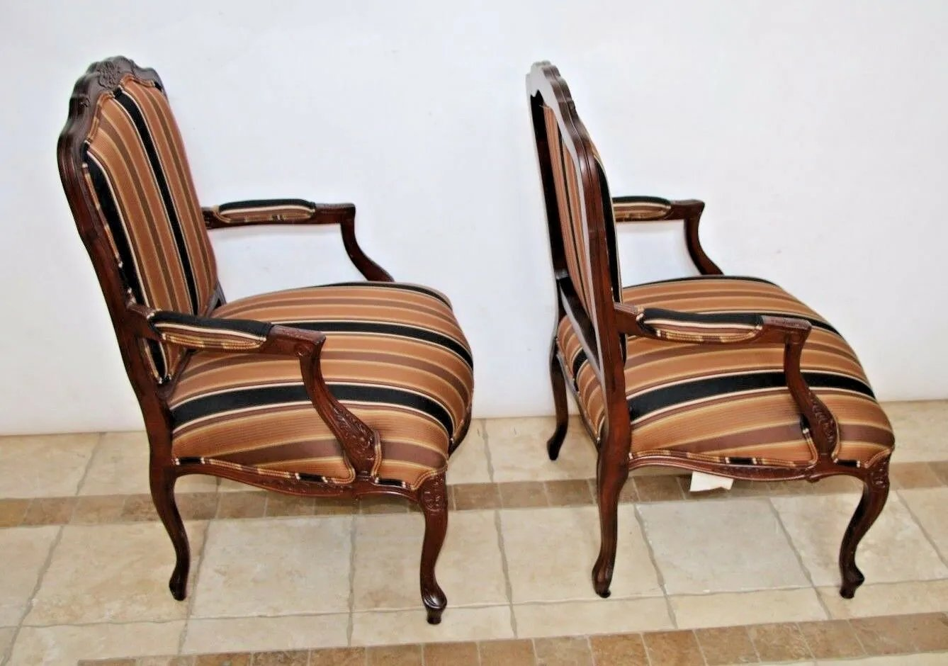 Henredon Fine Furniture French Country Accent Chair Set Of