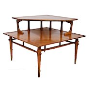 Mid Century Danish Modern Lane Alta Vista Side Corner Step Table No. 550121