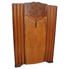 Original 1930's Lebus HL Furniture Art Deco Tulip Wardrobe Closet locking door