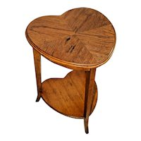Vintage Lane Furniture Two Tier Oak Heart Shaped Occasional Table by Earls Court