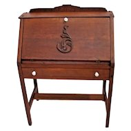 Antique Mission Desk Secretary Writing Ladies style solid Oak