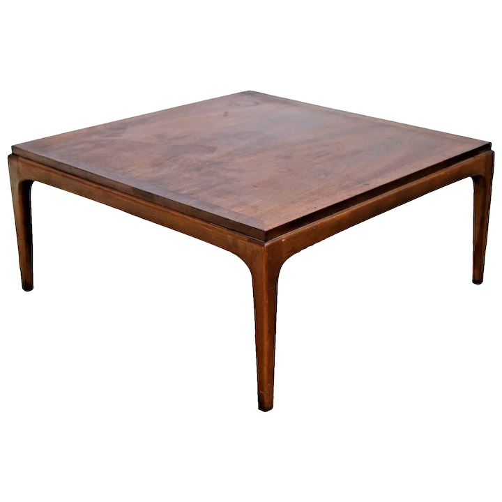 Mid Century Modern Square Coffee Table By Lane Walnut Style No 99717