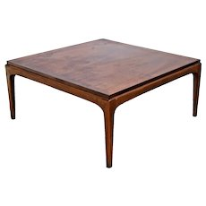 Mid Century Modern Square Coffee Table by Lane Walnut style no. 99717