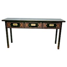 Sofa Console Table Three drawers Asian landscape theme