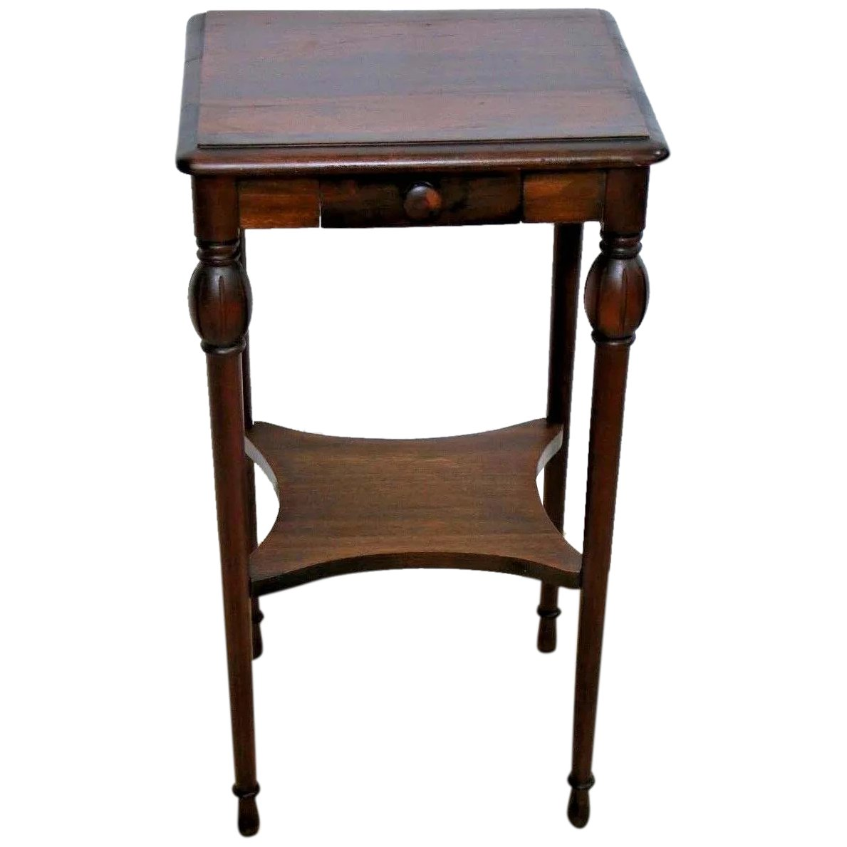 Antique Mahogany Rectangle Side Table