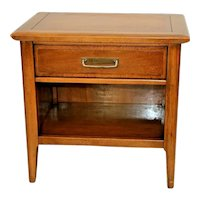 Vintage Lane Furniture Table with Drawer and bottom shelf Mid Century Modern