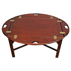 Vintage Butler's Coffee Table original High Gloss Mahogany Finish