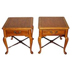 Vintage Bernhardt furniture Nightstands Side Tables Matching set drawer