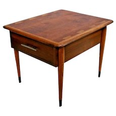 Mid Century Modern Lane Nightstand with drawer Side End Table Original Patina