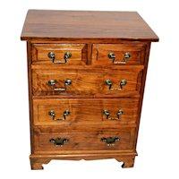 Vintage Walnut Bachelor Chest of drawers Dresser Server Silver Storage