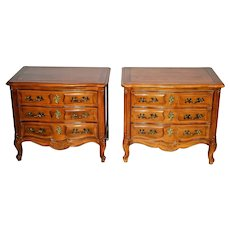 Vintage Henredon Nightstands Bedside Chests French Country Provincial